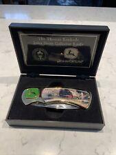 Collector Knife John Deere Kinkade 3.25� Blade Stainless Steel +Display Case