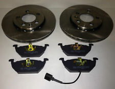 VW POLO 1.2 1.4 1.6 1.9 FRONT BRAKE PADS AND DISCS 2002-2008