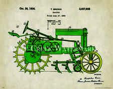 John Deere Tractor Patent Print Vintage Farming Toys Office Art Decor Freitag
