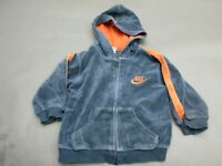 NIKE SIZE 3T BOYS BLUE FULL ZIP COTTON FRONT POCKETS HOODED JACKET 599