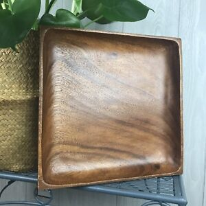 Vintage Wooden Square Serving Platter Tray Montessori Activity Tray Phillipines