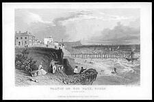 1835 ESSEX - Original Antique engraving View of WALTON ON THE NAZE (29)