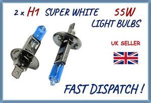 FITS HYUNDAI 2 x H1 FRONT HALOGEN SUPER WHITE HEADLIGHT BULBS XENON EFFECT LAMP