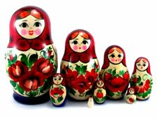 Nesting Dolls Russian Matryoshka Traditional Babushka Stacking Wooden New set 8