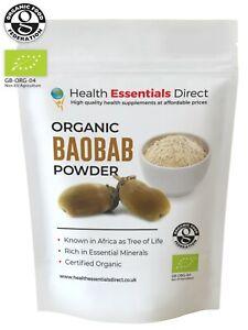 Organic Baobab Powder (Superior Grade, South African Super Fruit) Choose Size