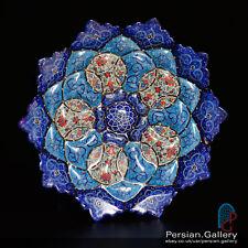 Esfahan artigianato-minakari PIASTRA (بشقاب میناکاری) - Taglia 20cm