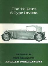 AUTOMOBILE PROFILE 19 4.5-LITRE S-TYPE INVICTA TOURER SALON COUPE MONTE CARLO BR