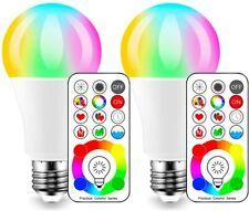 2 Ampoules LED Couleur Edison 120 Couleurs Disponibles 10 Watt E27 Type RGBW