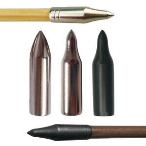 30 Stück Pfeilspitzen ID8mm Klebespitze Feldspitze Kugel Bogenschießen Ziel Jagd