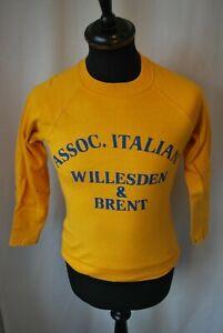 Vintage yellow sweater jumper Disotto Bros Italiani ice cream size XXS Kids ahoy