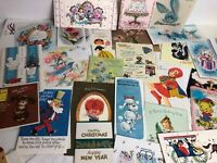 Vintage Lot of 30 Greeting Cards Birthday, Holiday, Baby, Christmas