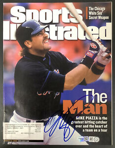 Mike Piazza Signed Sports Illustrated 8/21/00 Mets Autograph MLB Holo Fanatics