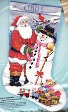 Bucilla Santa & Snowman Christmas Holiday Toys Needlepoint Stocking Kit 60713 E