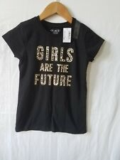 The Children Place Black Blouse With Design Of Letters Size 5/6 (S) Nwt
