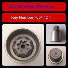 """Genuine Suzuki Bloccaggio Dadi Ruota/Chiave 7054 """"Q"""""""
