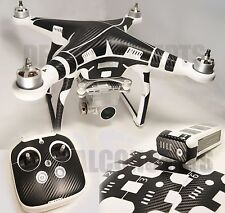 DJI Phantom 3 Ultimate Carbon Fiber Skin Graphic Wrap Decal P3 Adv Pro
