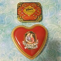 Whitman's  Candy Cloisonne Replica of 1920's Tin & Hershey's Chocolate Heart Tin