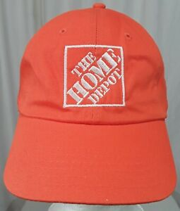 The Home Depot New Orange Baseball Cap Adjustable Employee Work Wear Hat