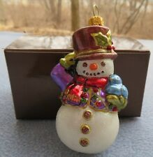 Jay Strongwater Little Snowman Ornament Swarovski Elements New In Box