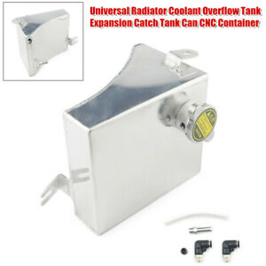 Universal Radiator Coolant Overflow Tank Expansion Catch Tank Can CNC Container