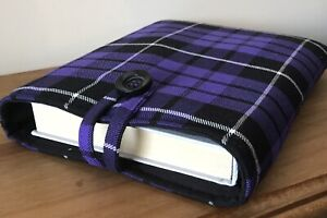 Handmade Book Sleeve Tartan. New