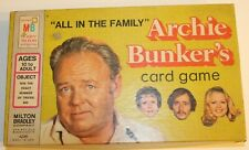 "1972 ""It's All In The Family"" Archie Bunker's Card Game from Milton Bradley Co."