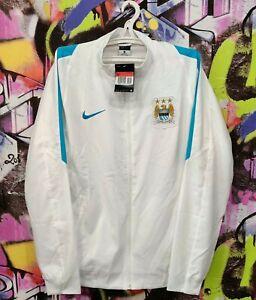 Manchester City Football Soccer Longsleeve Full Zip Jacket Top Nike Mens Size L