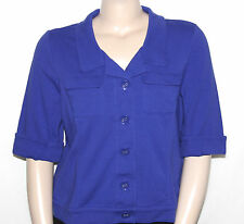Pre-owned Motto X-LARGE Notch Collar Elbow Sleeve Cropped Jacket DEEP BLUE