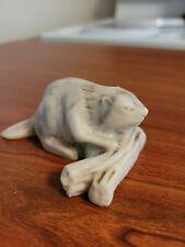 Small Beaver On Log Resin Figurine