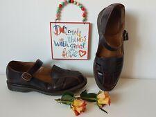 Dr Martens Mary jane Deardra flat buckle brogue shoes arcadia UK 9 EU 43 US 11