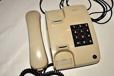 Vintage Siemens Beige Telephone Button Phone Working!