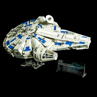 Custom Display Stand & UCS PLAQUE for LEGO 75212 KESSEL RUN MILLENNIUM FALCON