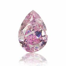 Pink Diamond Natural 0.17 Ct Fancy Intense Color GIA Certified Pear Cut
