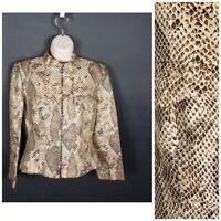 Flores & Flores  Women's Jacket Size 8 Animal Print Silk Blend Jacket