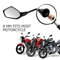 Universal 8mm For Motorcycle Electric motorbike Wing Side Rearview Mirror UK #