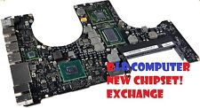 "EXCHANGE SERVICE: MACBOOK PRO 15"" A1286 820-2915-A LOGIC BOARD NEW 15 CHIPSET"