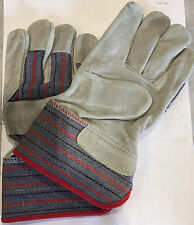 Leather Palm Work Gloves Economy Grade - Small - One Pair