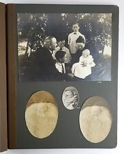 Vintage Photo Album People Children Babies Family Houses Snow Photo Strips