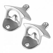 2Pcs New Metal Polished beer Wall Mounted Bottle opener wall mount beer openers