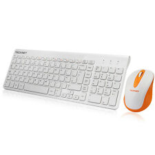 Ergonomic 2.4GHz Wireless Keyboard and Cordless Mouse Combo Set for PC Laptop UK