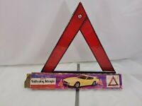Vintage 1970s Car Roadside Emergenc Triangle with cool vintage artwork on box