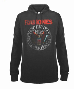 Almplified The Ramones Hoody Red Seal Grey New Cult