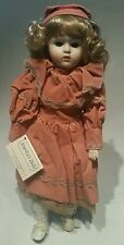 "America's Porcelain Dolls ""Heather"" 15"" Doll D-22, by Heritage Mint w/ Coa"