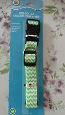 greenbrier light green dog collar adjustable
