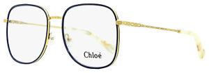 Chloe Square Eyeglasses CE2162 885 Yellow Gold/Blue 53mm 2162