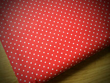 Red Spotty Shabby Chic 100% Cotton Fabric. Price per 1/2 meter