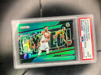 2018-19 Panini Prizm GIANNIS ANTETOKOUNMPO Get Hyped Green Refractor Mint PSA 9
