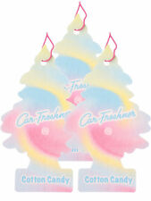 Little Trees Car Home & Office Cardboard Hanging Air Freshener Cotton Candy- 3PK