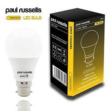 5x LONG LIFE 7w = 60w LED LIGHT BULB GLS BC B22 Warm White