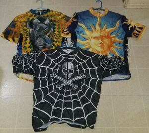 KUCHARIK Skull Bones & Primal Bicycle Cycling Jersey XXL 3XL Lot of 3